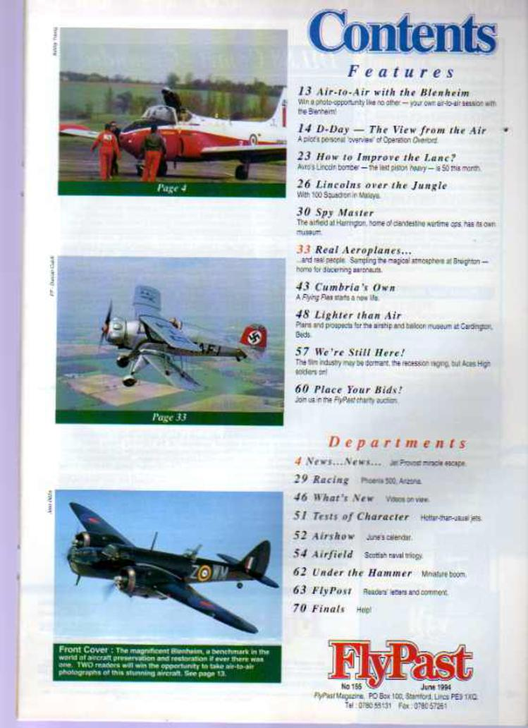 Image for FlyPast Magazine June 1994 No 155