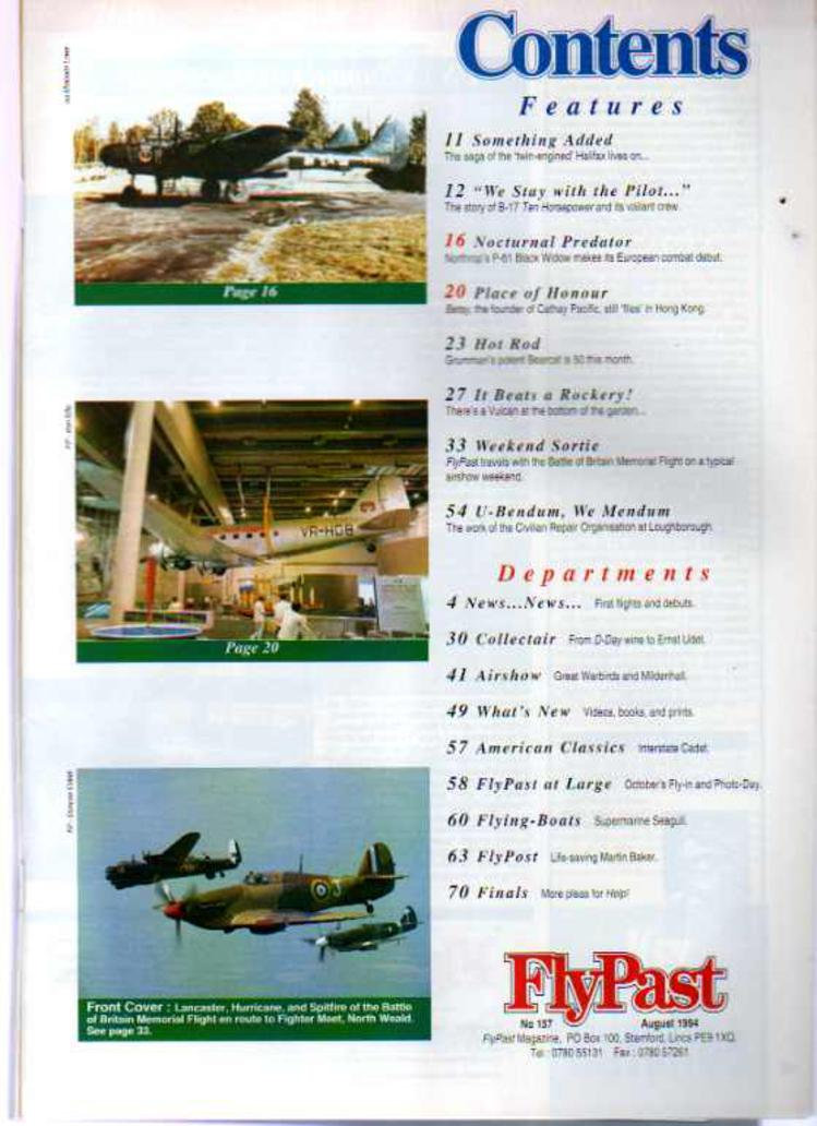 Image for FlyPast Magazine August 1994 No 157
