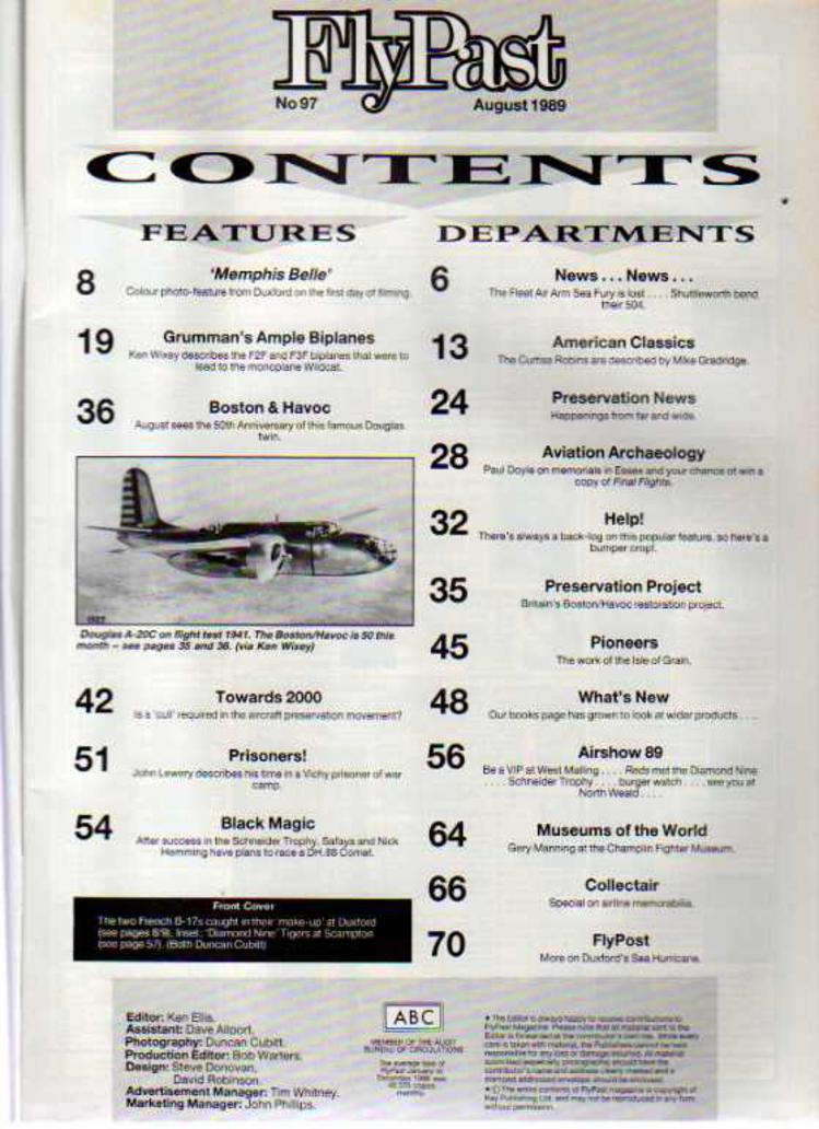 Image for FlyPast Magazine August 1989 No 97