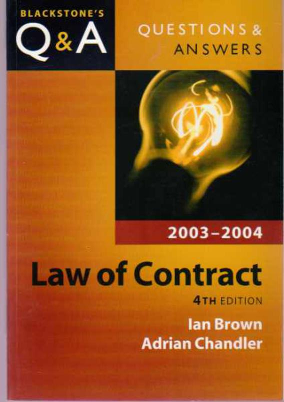 Image for Q & A Law of Contract