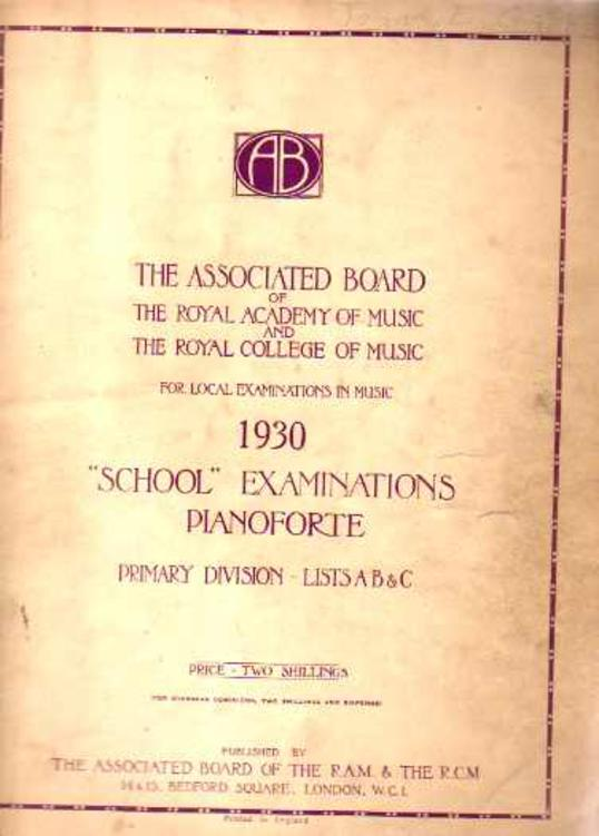 Image for School Examinations Pianoforte Primary Division Lists A B & C 1930