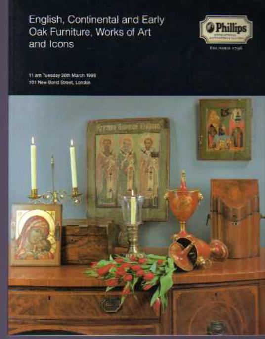 Image for English, Continental and Early Oak Furniture, Works of Art and Icons