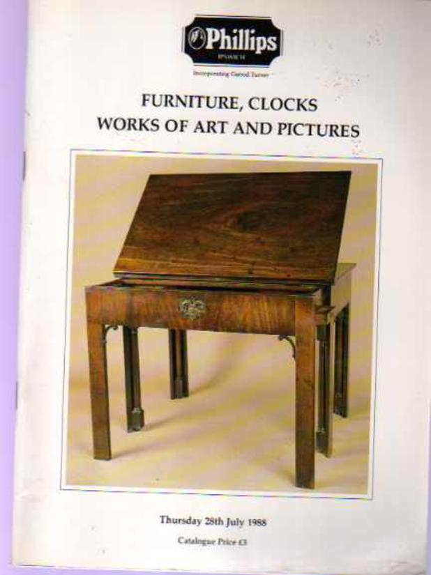 Image for Furniture, Clocks Works of Art and Pictures
