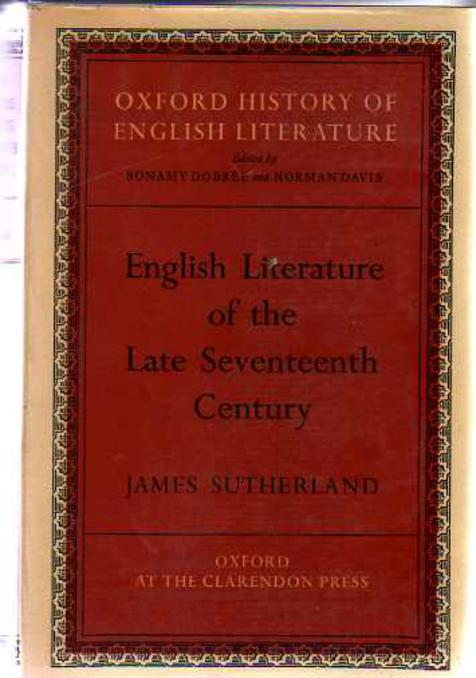 Image for English Literature of the Late Seventeenth Century