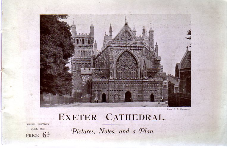 Image for Exeter Cathedral : Pictures, Notes, and a Plan