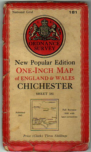 Image for Ordnance Survey  New Popular Editon One-Inch Map of England & Wales Sheet 181 Chichester