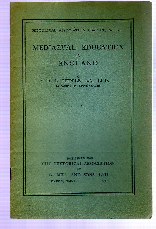 Image for Mediaeval Education in England