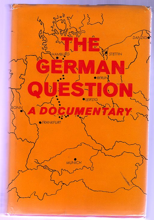 Image for The German Question : A Documentary