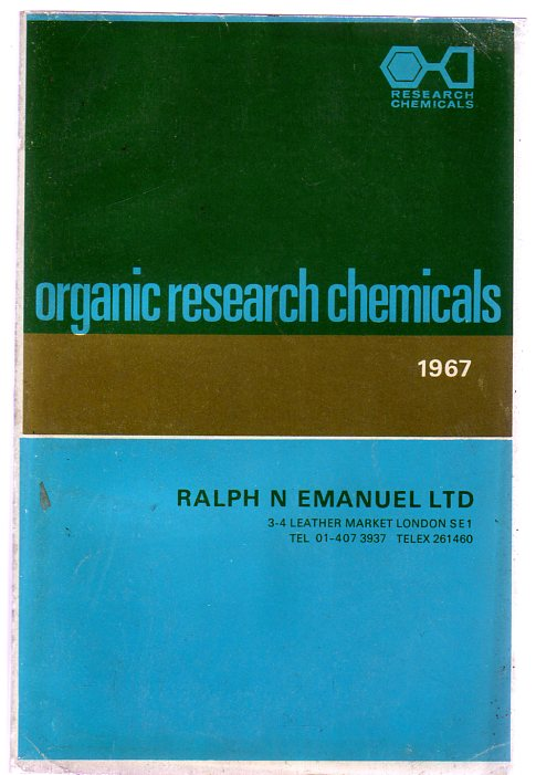 Image for Organic Research Chemicals 1967