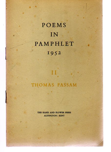 Image for Poems in Pamphlet 1952 - II - The Journey in Hope - a Pastoral in Three Parts