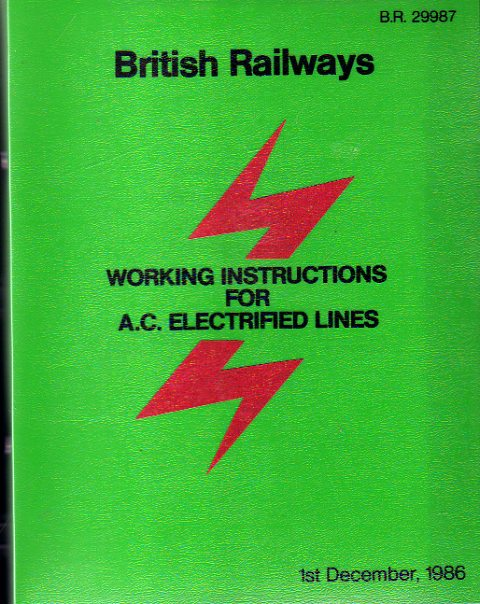 Image for British Railways Working Instructions for A.C. Electrified Lines