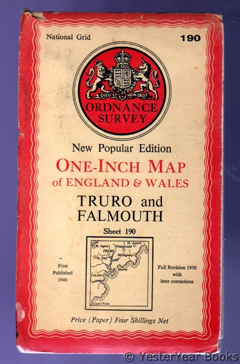 Image for Ordnance Survey Sheet 190 - Truro and Falmouth