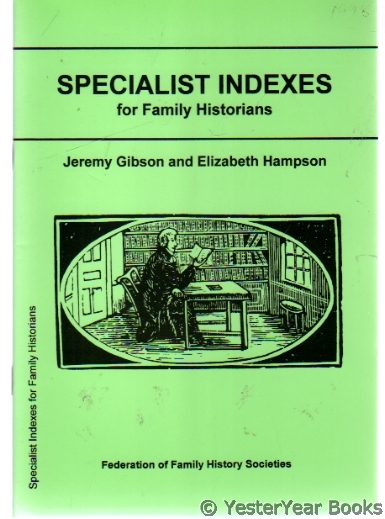 Image for Specialist Indexes for Family Historians