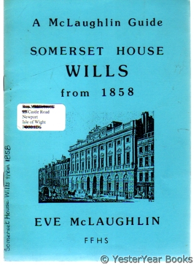 Image for Somerset House Wills from 1858
