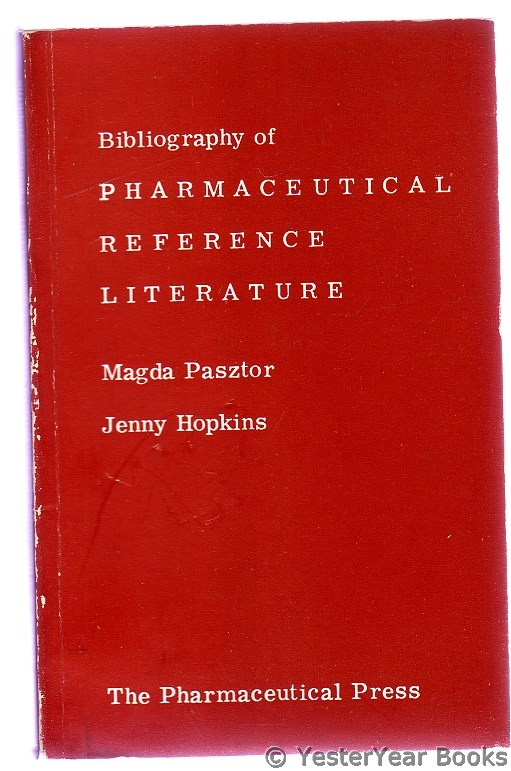 Image for Bibliography of Pharmaceutical Reference Literature