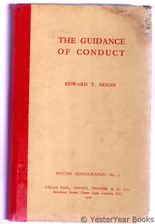Image for The Guidance of Conduct : Psyche Monographs - No. 2 (SIGNED)