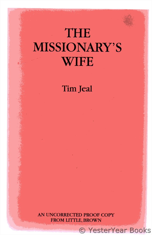 Image for The Missionary's Wife - UNCORRECTED PROOF