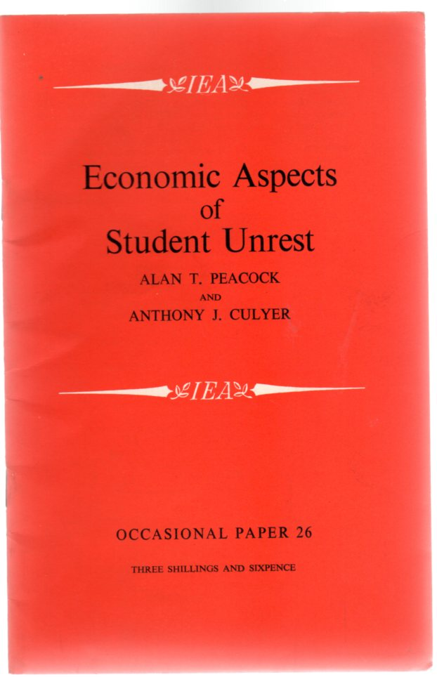 Image for Economic Aspects of Student Unrest