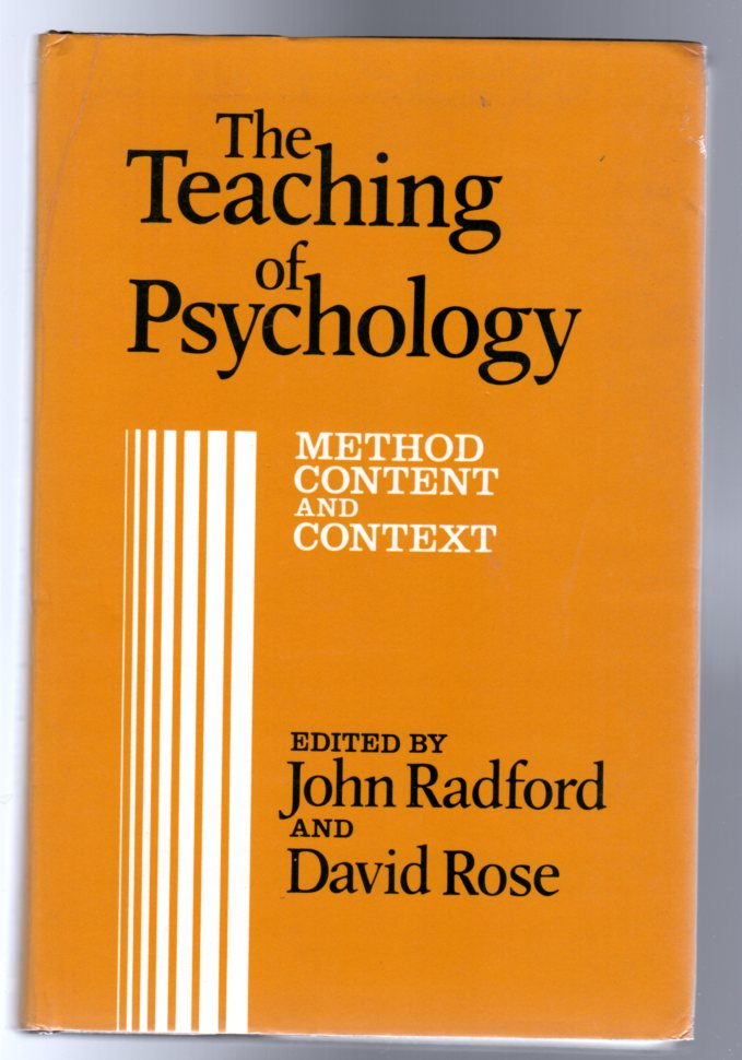 Image for The Teaching of Psychology : Method, Content, and Context