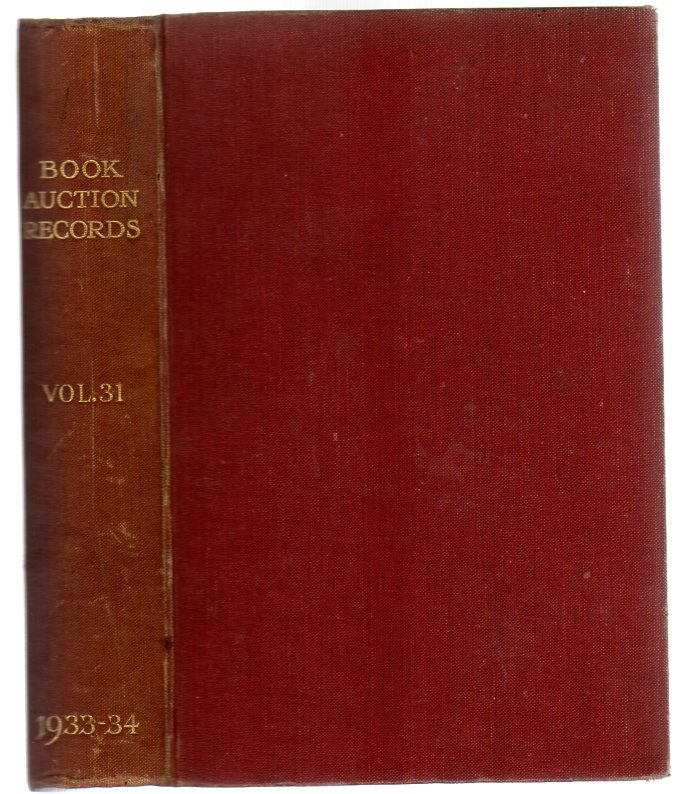 Image for Book-Auction Records : Volume 31, Part I
