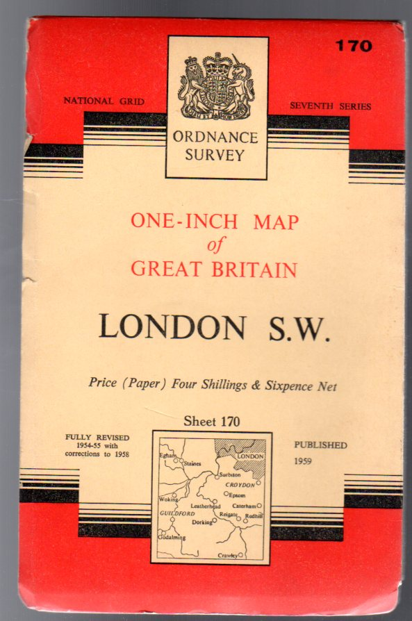Image for Ordnance Survey  One-Inch Map of England & Wales Sheet  170 London S.W.
