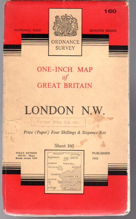 Image for Ordnance Survey  One-Inch Map of Great Britain Sheet 160 London N.W.