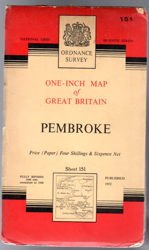 Image for Ordnance Survey  One-Inch Map of Great Britain - Sheet  151 Pembroke