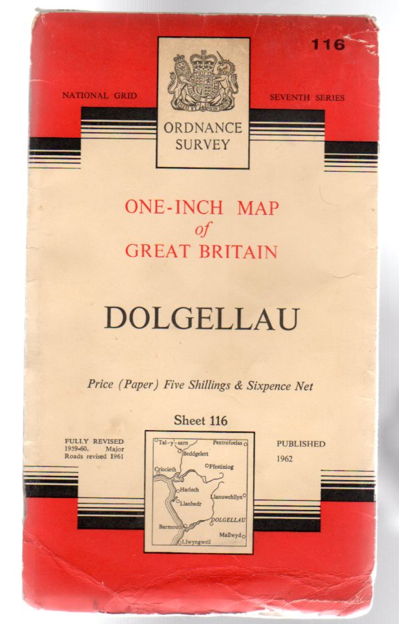 Image for Ordnance Survey  One-Inch Map of Great Britain Sheet  116 Dolgellau