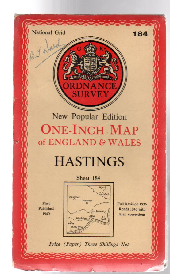 Image for Ordnance Survey New Popular Edition One-Inch Map Sheet 184 Hastings