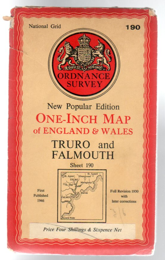 Image for Ordnance Survey New Popular Edition One-Inch Map Sheet 190 Truro & Falmouth