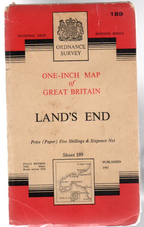 Image for Ordnance Survey  One-Inch Map of Great Britain Sheet 189 Land's End