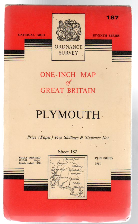 Image for Ordnance Survey  One-Inch Map of Great Britain - Sheet 187 Plymouth