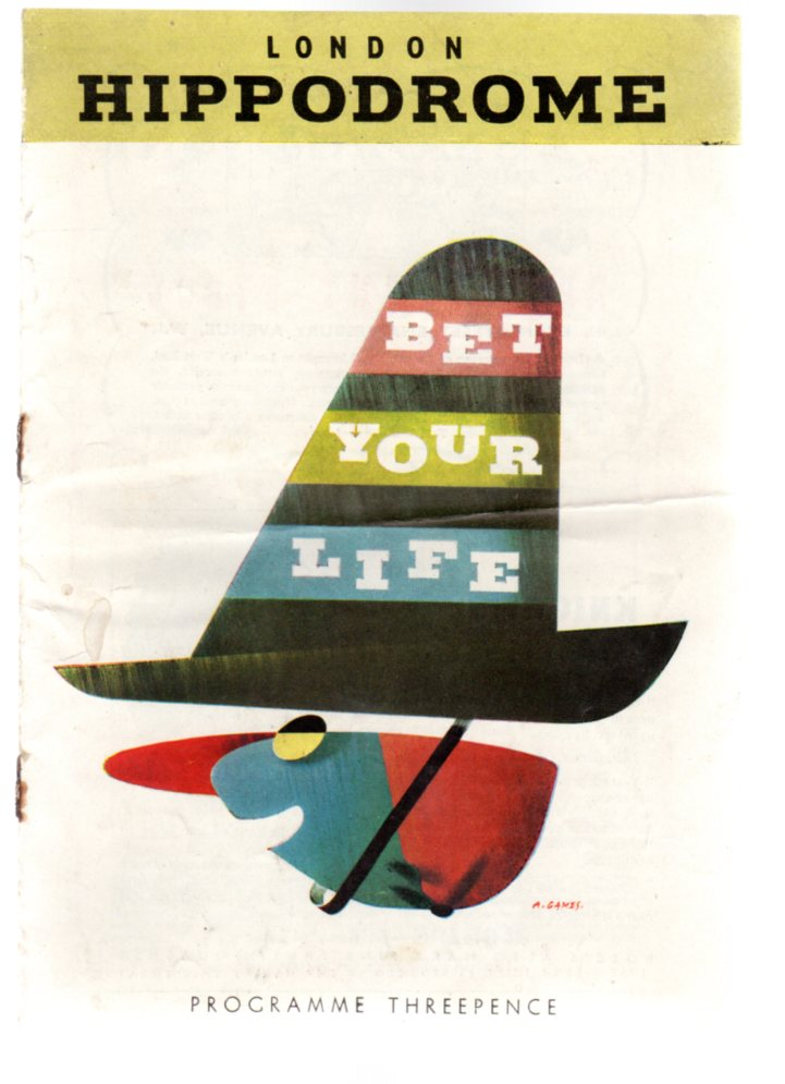 Image for Bet Your Life - Theatre Programme - London Hippodrome