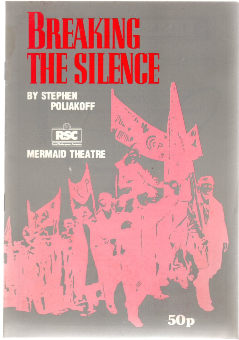 Image for Breaking the Silence - Mermaid Theatre Programme  1985