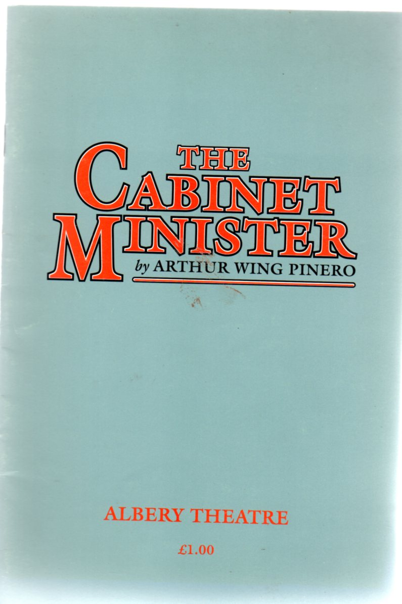 Image for The Cabinet Minister - Albery  Theatre Programme 1991