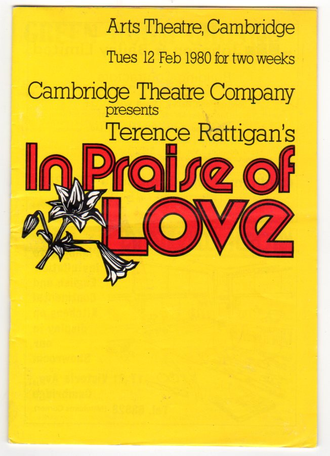 Image for In Praise of Love (THEATRE PROGRAMME)
