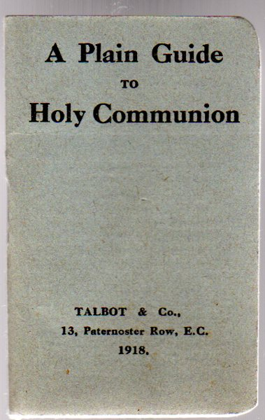 Image for A Plain Guide to Holy Communion