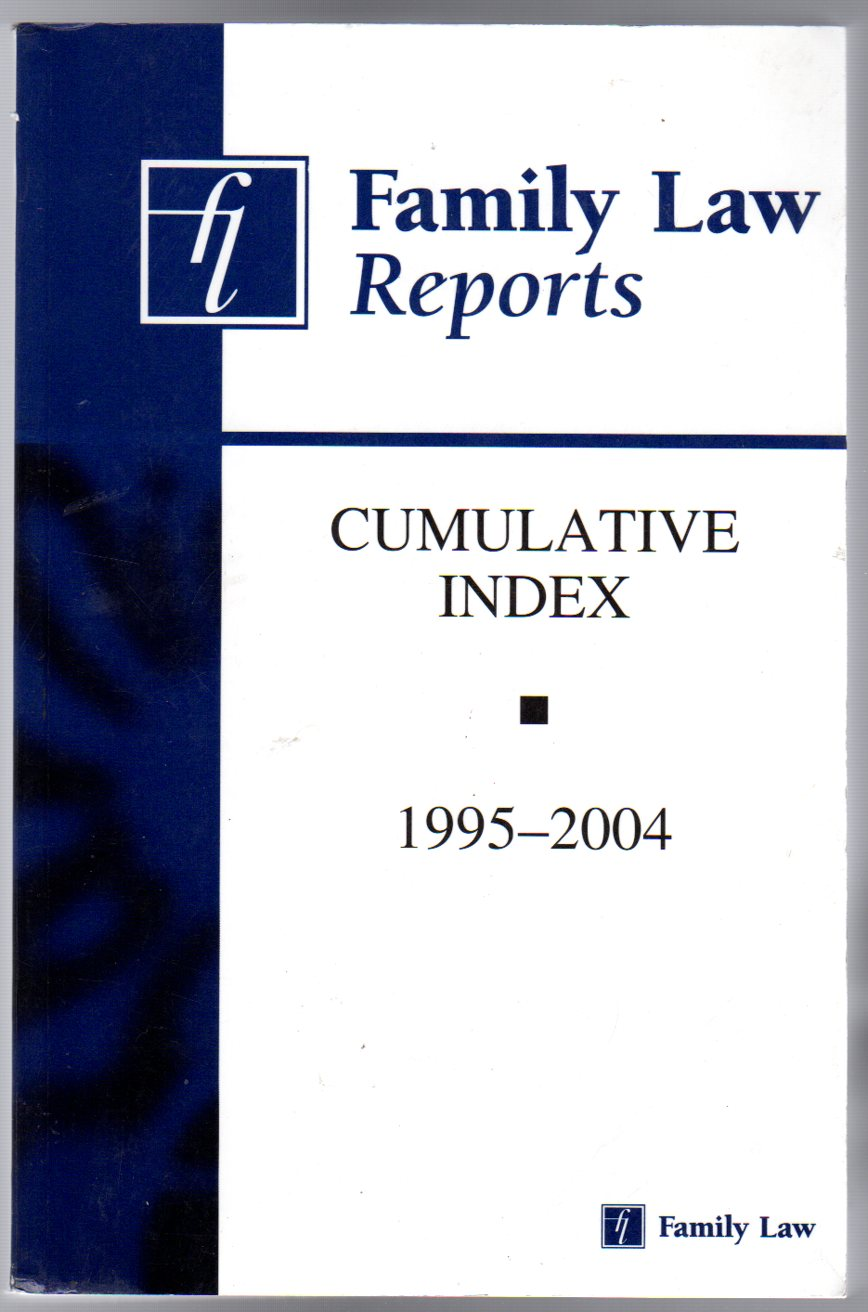 Image for Family Law Reports Cumulative Index 1995-2004