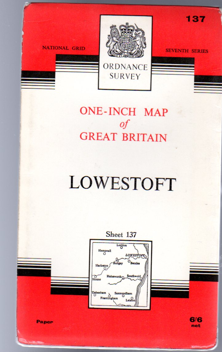 Image for Ordnance Survey  One-Inch Map of Great Britain Sheet 137 Lowestoft