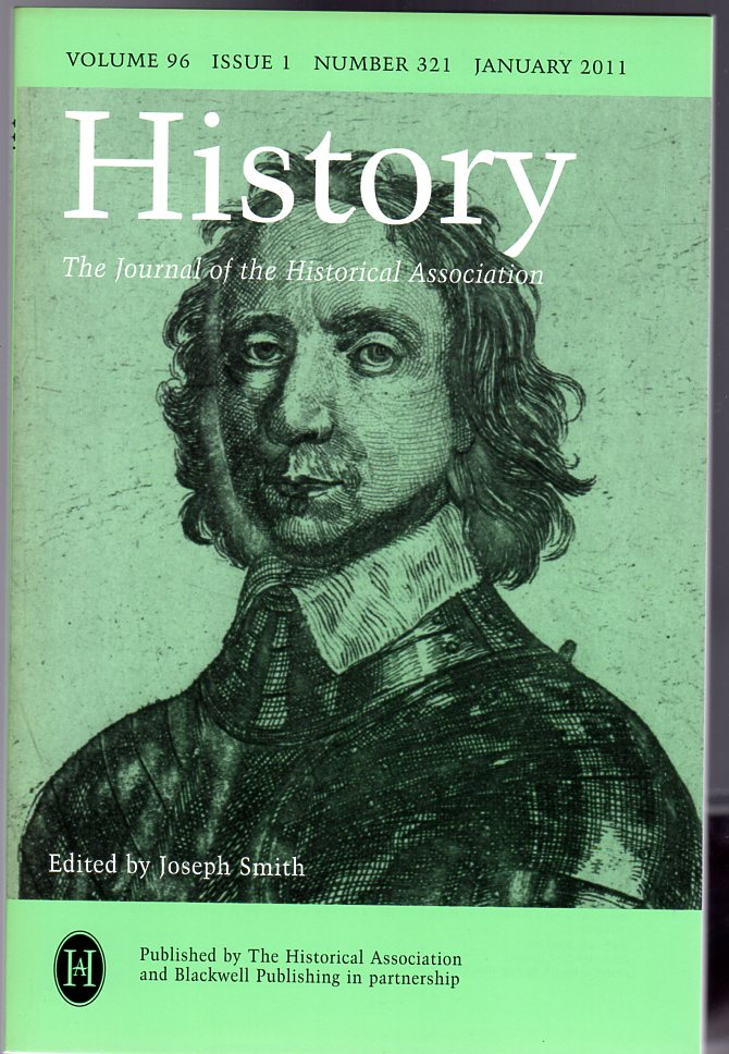 Image for History : The Journal of the Historical Association - Volume 96 Issue 1 Number 321 : January 2011
