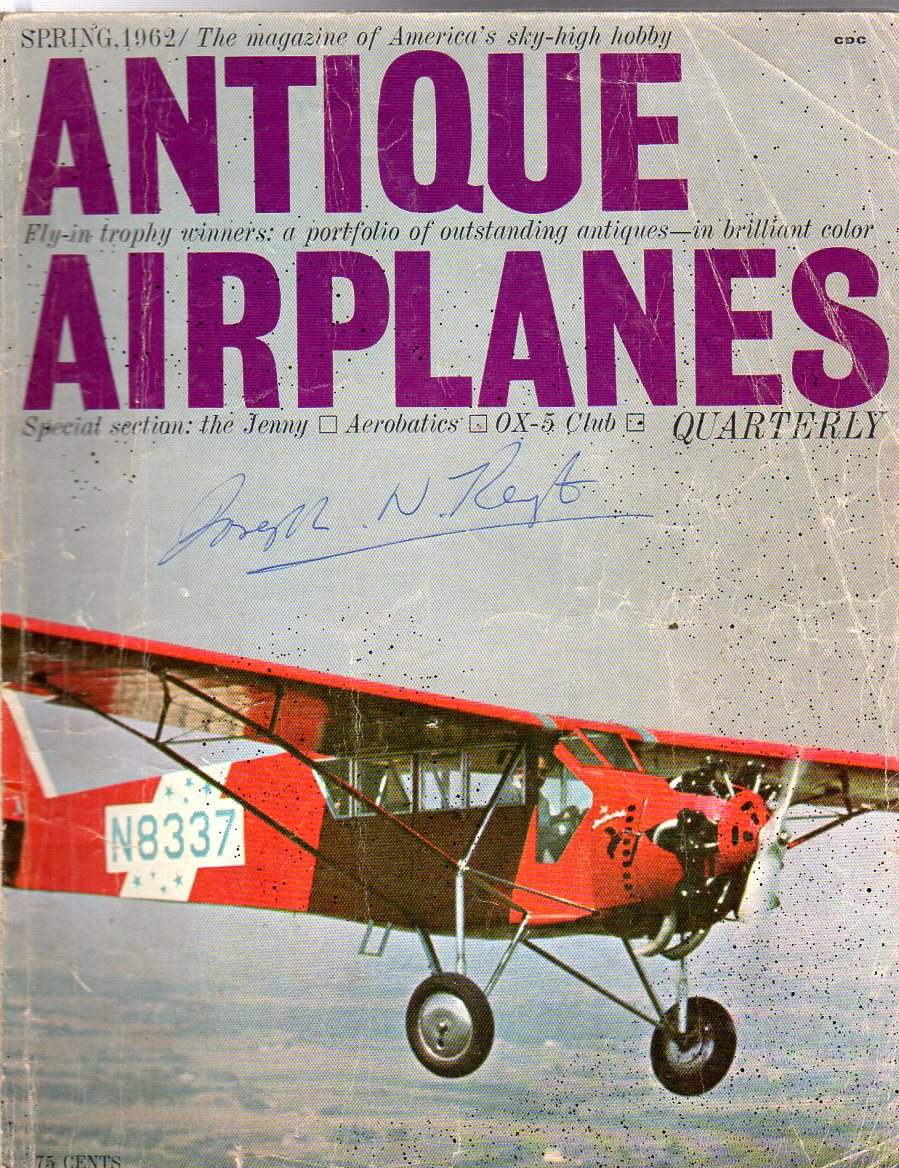 Image for Antique Airplanes : Spring, 1962, Vol. 1 No. 2