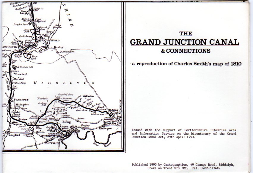 Image for The Grand Junction Canal & Connections - a reproduction of Charles Smith's Map of 1810