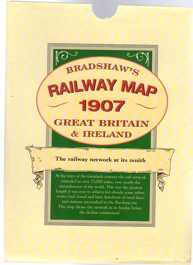 Image for Bradshaw's Railway Map 1907 Great Britain and Ireland