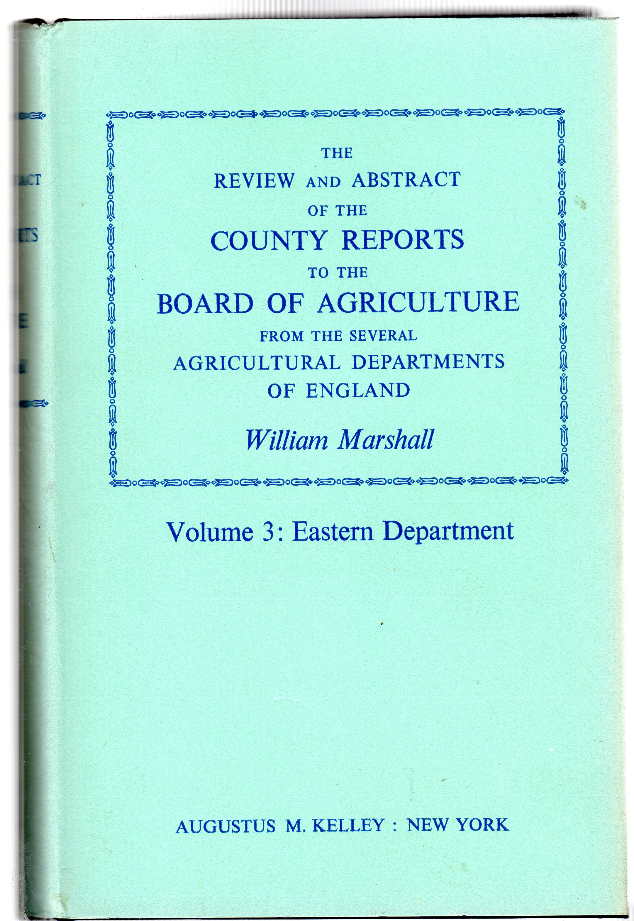 Image for The Review and Abstract of the County Reports to the Board of Agriculture : Volume  3 - Eastern Department