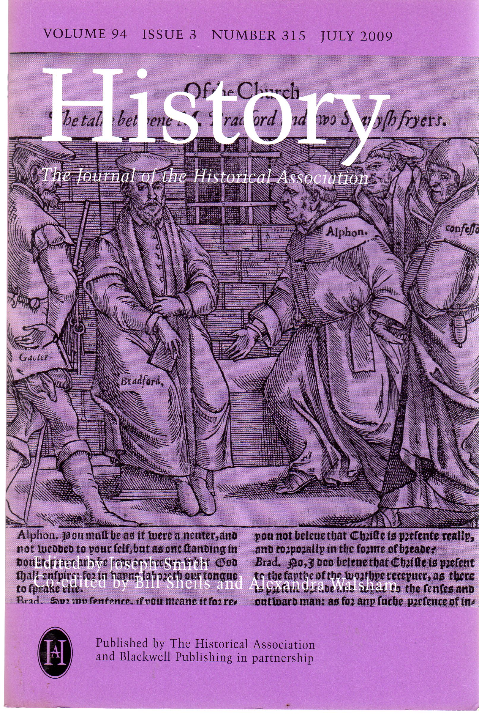 Image for History : The Journal of the Historical Association - Volume 94 Issue 3 Number 315 July 2009