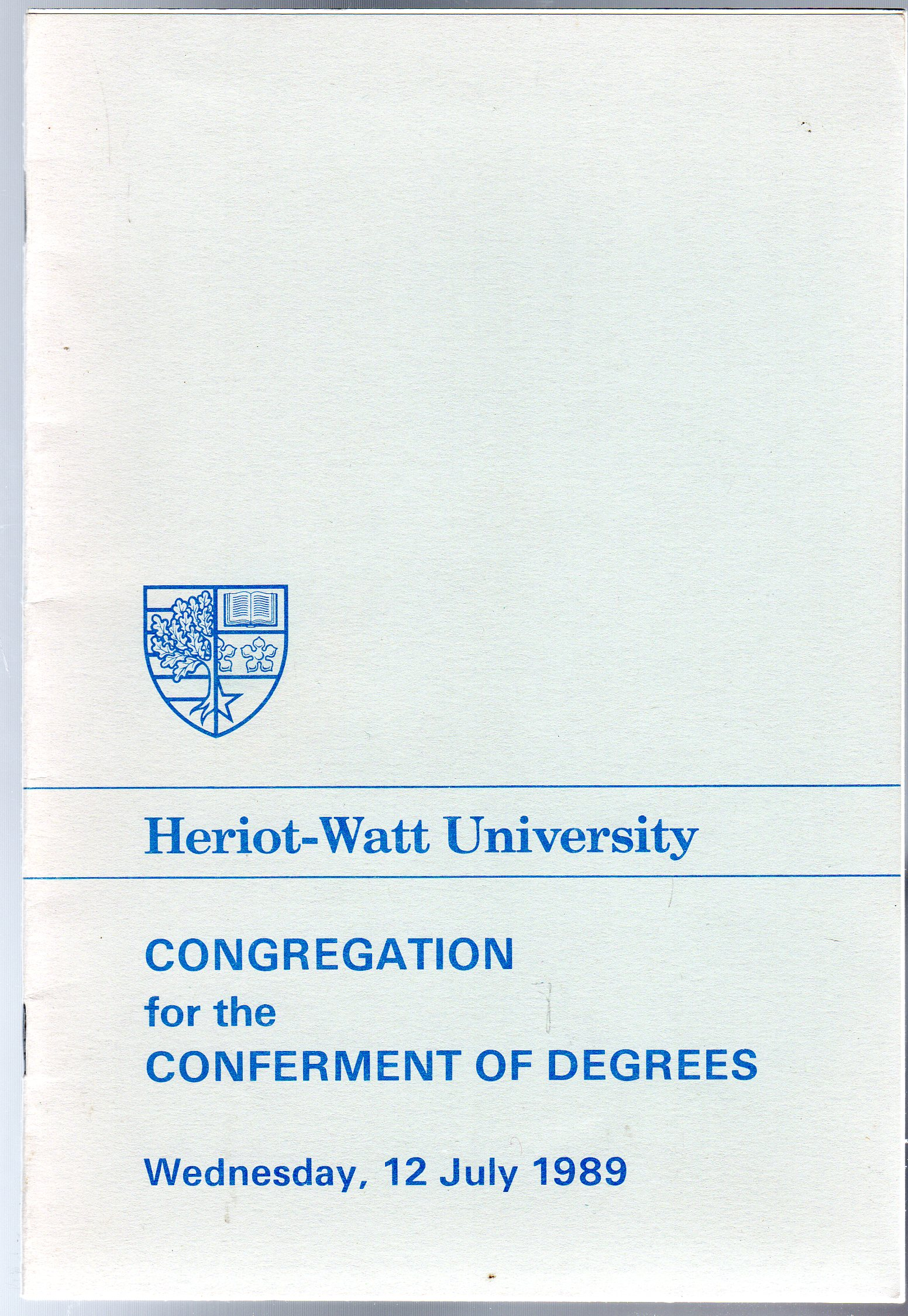 Image for Congregation for the Conferment of Degrees