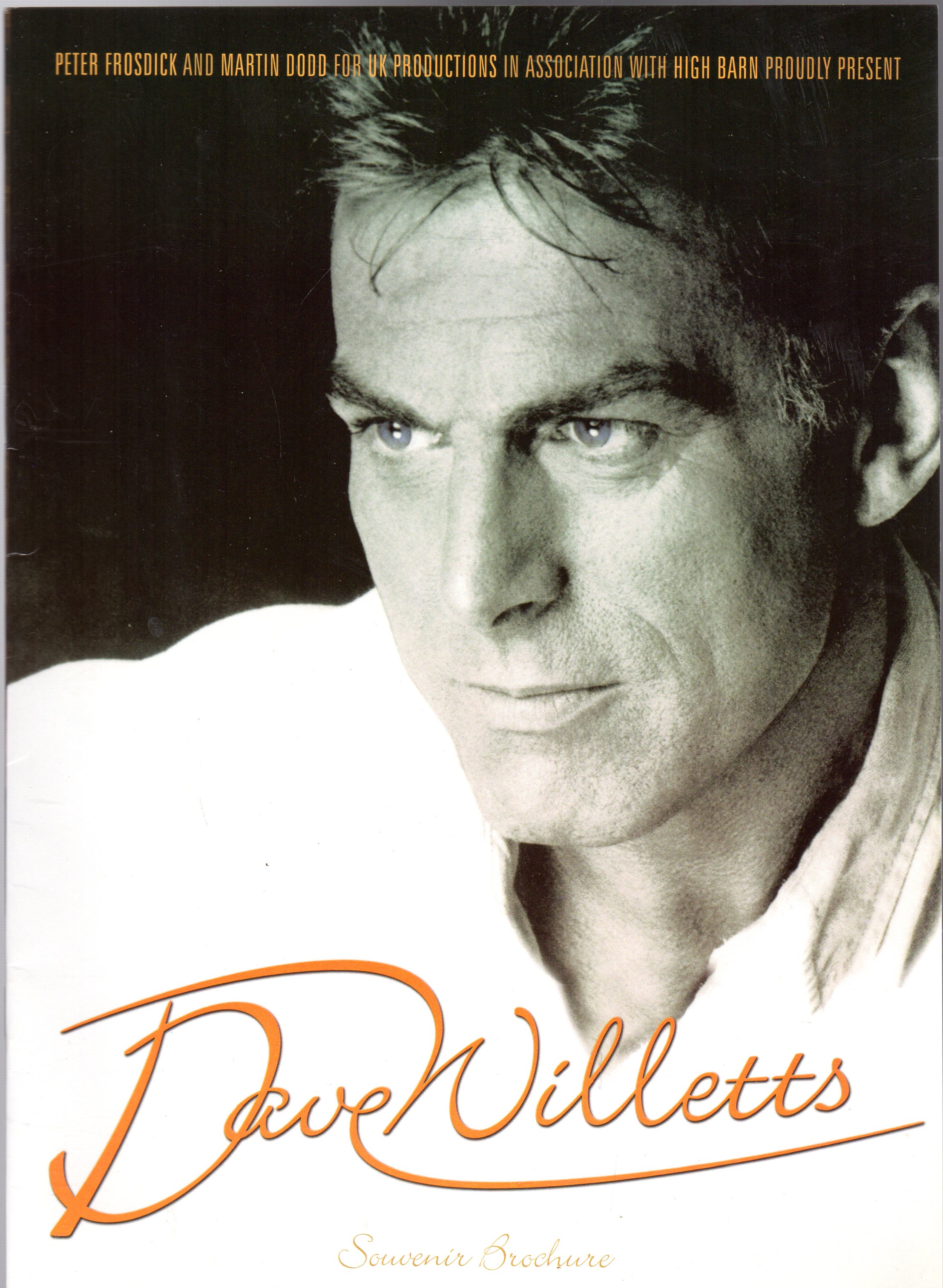 Image for Dave Willetts Souvenir Brochure (SIGNED COPY)