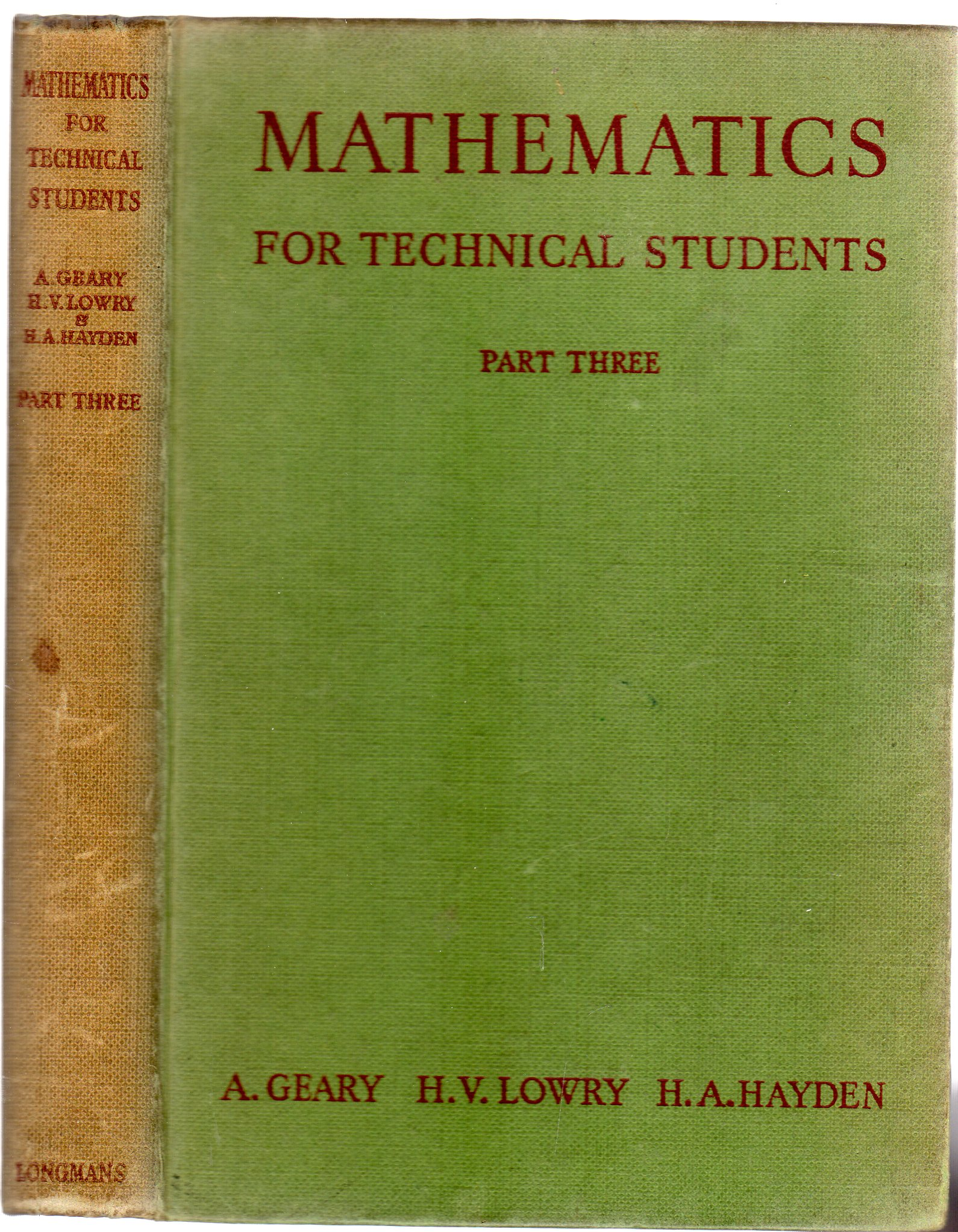 Image for Mathematics for Technical Students Part IIII with Diagrams