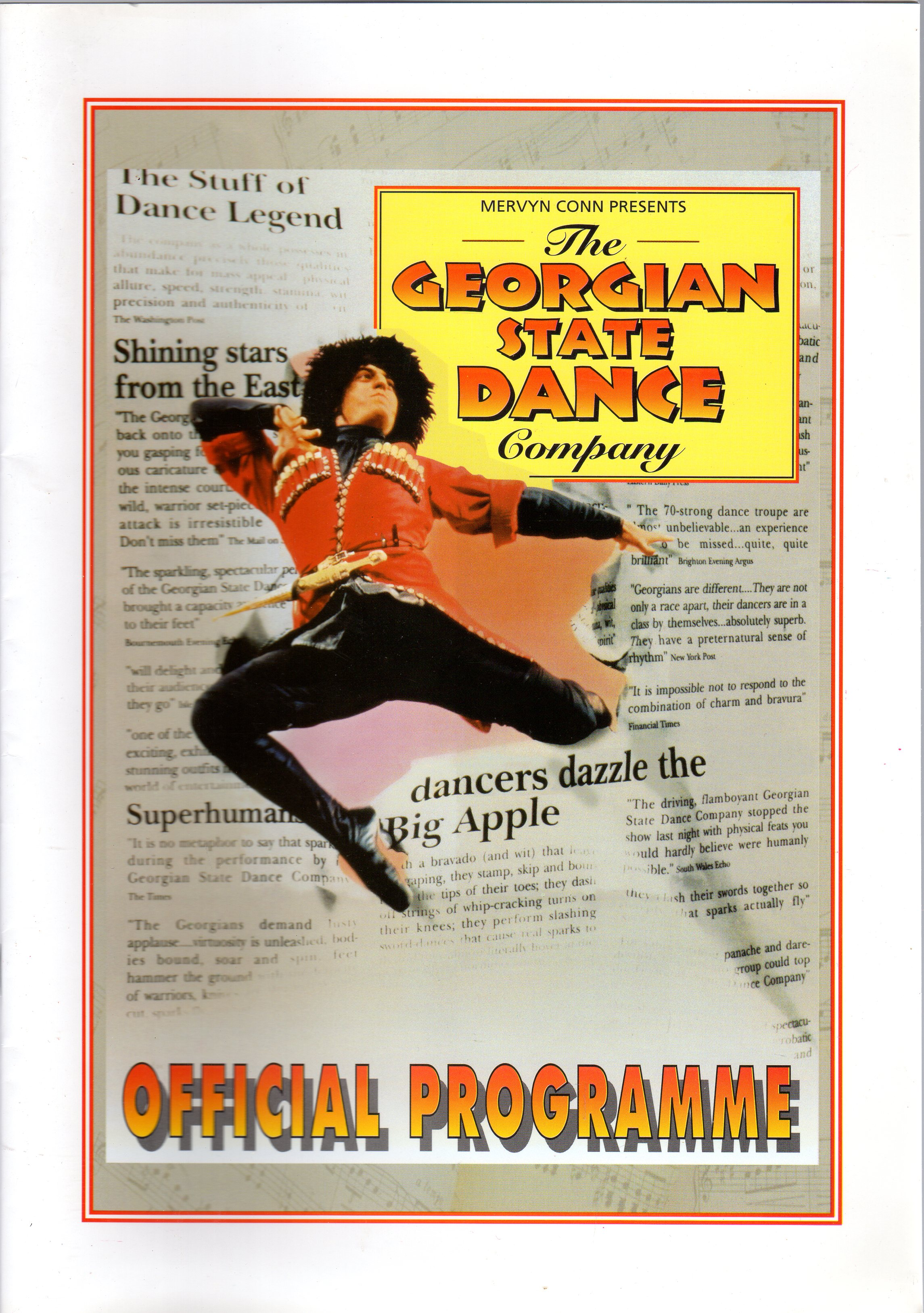 Image for The Georgian State Dance Company (OFFICIAL PROGRAMME)