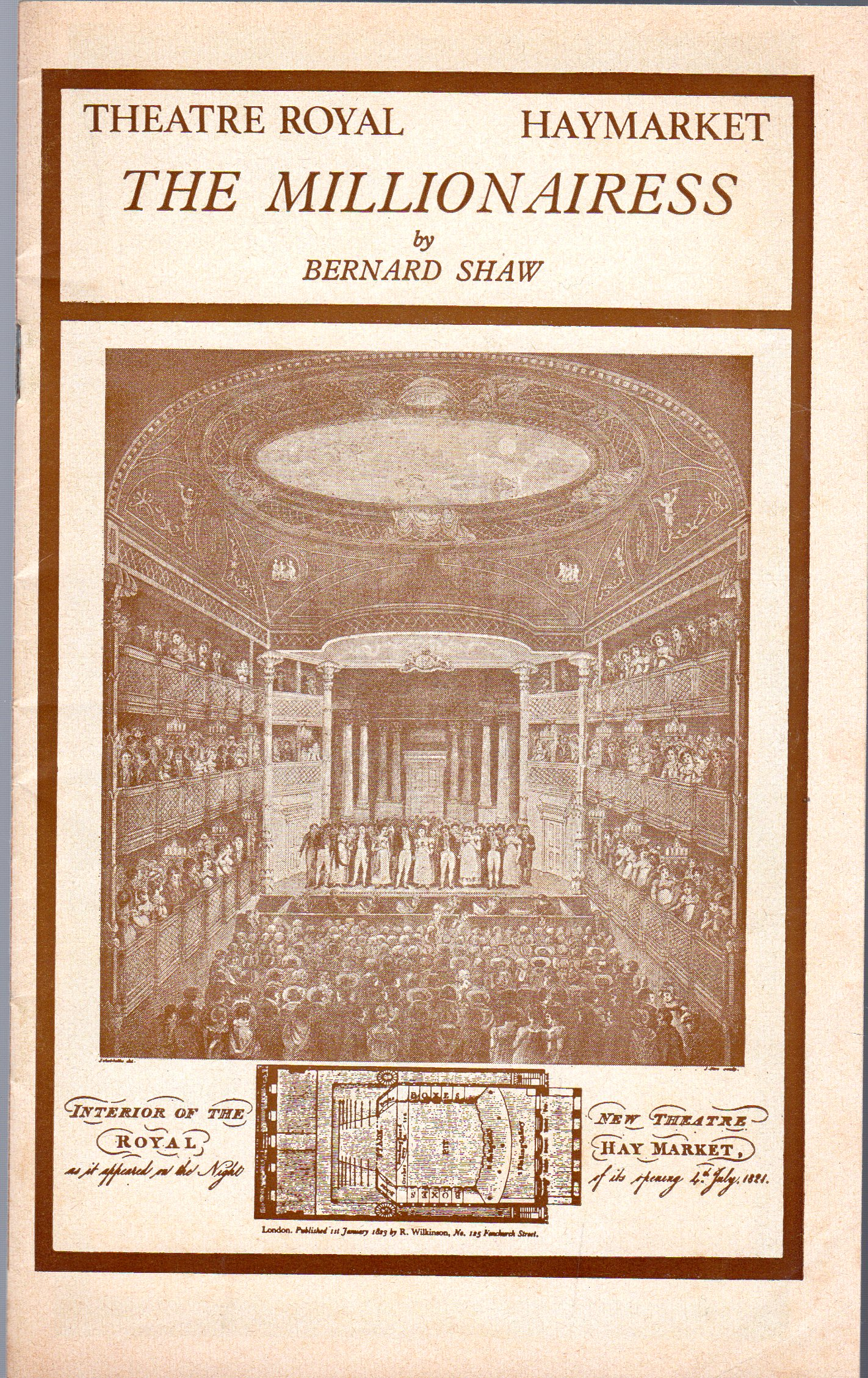 Image for The Millionairess (THEATRE PROGRAMME)